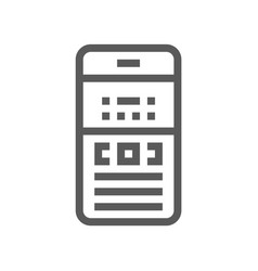 phone electronic devices line icon vector image