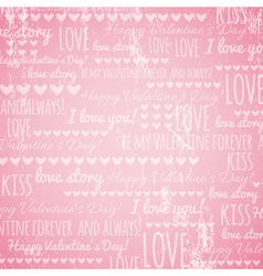 pink background with valentine hearts vector image