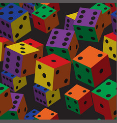 rainbow dice seamless pattern vector image