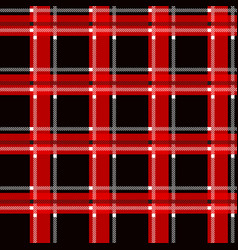red and black tartan plaid scottish seamless vector image