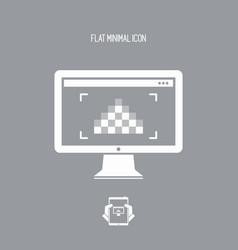 Resolution pixel - minimal flat icon vector