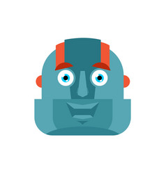 robot happy emoji cyborg merry emotions robotic vector image