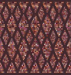 seamless geometric pattern dots vector image