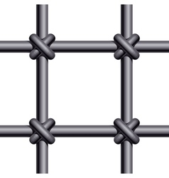 Seamless prison bars vector image