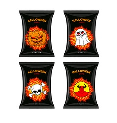 Set chips for Halloween Terrible Food for holiday vector image vector image