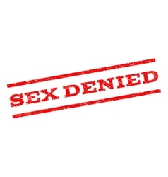 Sex Denied Watermark Stamp vector