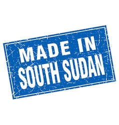 South Sudan blue square grunge made in stamp vector
