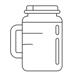 spinach jar icon outline style vector image