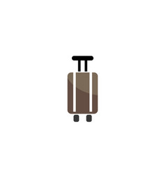 suitcase with hand and two wheels logo vector image