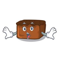 Surprised brownies mascot cartoon style vector