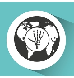 Symbol x-ray hand medical icon vector