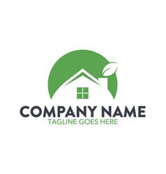 Unique house logo vector
