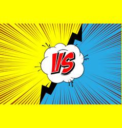 Versus vs fight backgrounds vector