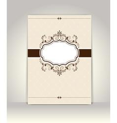 vintage Invitation template retro design vector image