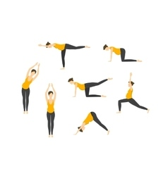 Yoga for Pregnant Women Set Right Position vector image