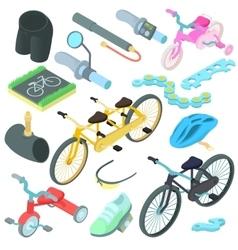 Biking icons set cartoon style vector image