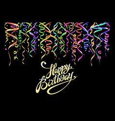 birthday greeting card with place for your text - vector image vector image