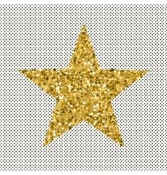 Gold glittering stars confetti vector image vector image