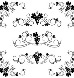 grape design elements vector image vector image