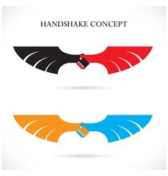 Handshake abstract design concept template vector