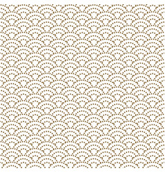 japanese wave dotted traditional seamless vector image vector image