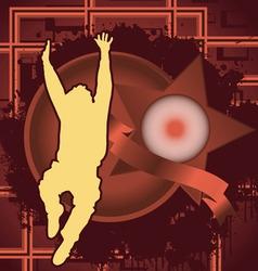jumping man vintage design vector image vector image