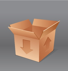open empty cardboard box isolated vector image