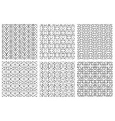 seamless floral patterns in victorian antique vector image vector image