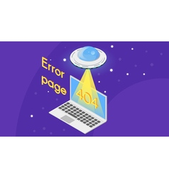 404 error page template for website vector image vector image