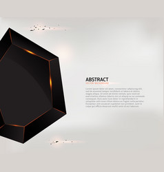 abstract black geometric shape background vector image
