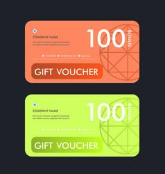 gift voucher template design vector image vector image