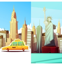 New York Two Vertical Banners vector image vector image