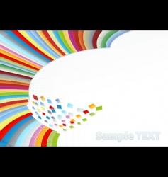 rainbow corner element vector image vector image
