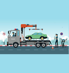 wrong traffic rules vector image