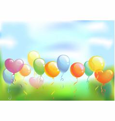 bright festive background vector image