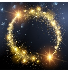 Christmas background with Gold Star vector image