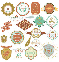 collection of vintage labels and stamps vector image