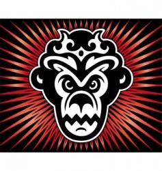gorilla king vector image