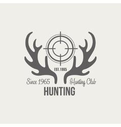 Hunting vintage emblem vector