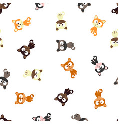 pattern with colored cats vector image vector image