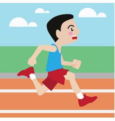 running athletic sport cartoon set vector image vector image