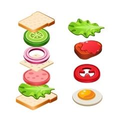 Sandwich Ingredients Food vector image vector image