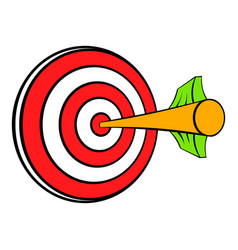 target with arrow icon cartoon vector image