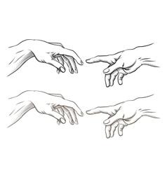Adam hand of God like creation vector image vector image