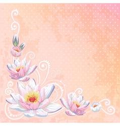 Beautiful spring floral postcard vector image