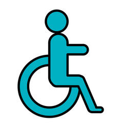 disabled sign isolated icon vector image