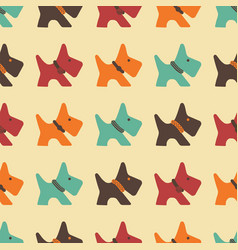 pattern with colored dogs vector image vector image