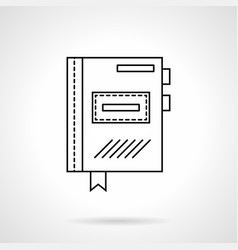 planner flat line icon vector image vector image