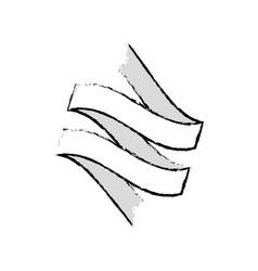 ribbon banner decoration sketch vector image vector image