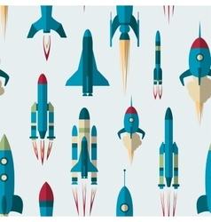 Set of rockets pattern vector image